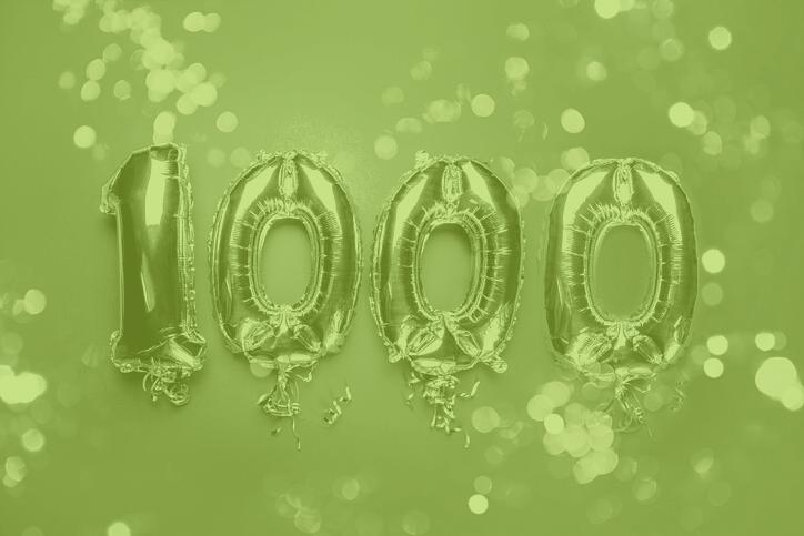 Celebrating raising £1000