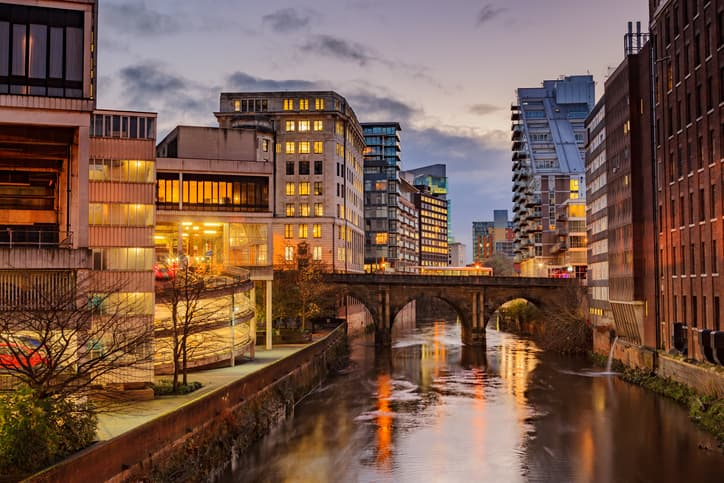 Manchester during the evening