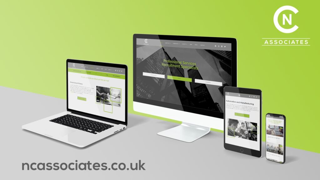 NC Associates - New website mockup